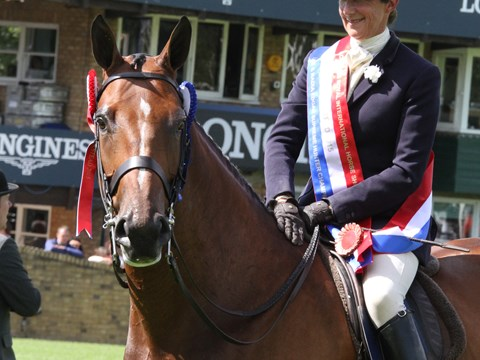 Jayne Ross - winner of the British Horse Society Supreme Horse