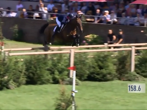 Holly Smith first round in the Al Shira'aa Hickstead Derby 2018